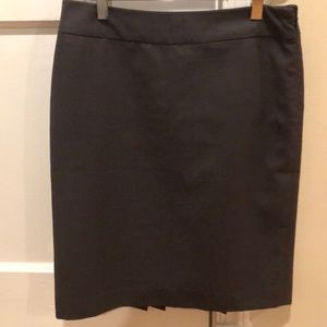 Gray Skirt with Pleated accent in back